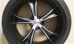 """22"""" AMERICAN RACING WHEELS WRAPPED IN 295/35/R22 NANKANG SP7 TIRES!! WILL FIT ALL DODGE CHARGERS AND CHALLENGERS 2005 AND UP!!!((($700))) CALL 501-955-2232 AND ASK FOR JASON TODAY!"""