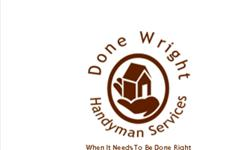 Handyman service in the greater Ogden, Utah area for all you home improvement and repair needs. When quality and craftsmanship matter, Done Wright provides the experience, traininng, and cognition necessary for professional results. From