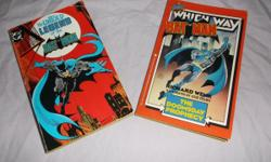 BATMAN: The Doomsday Prophecy & The Untold Legend of the Batman Paperback LOT, 1986 & 1982!!    This set is in NM- to NM conditions with All pages here and complete!     Please see the photo's for much