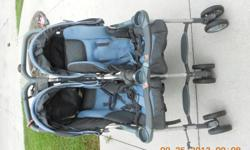 kids double stroller navy blue. please call or text -- located in naples