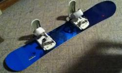 Blue board white bindings. Waist width: 24.6 Edge length:115 Radius: 7.4