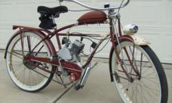 """Easily convert your own """"V"""" frame bicycle to a moped with this 80cc 2-Stroke Engine Kit. You'll be able to pedal your bike and ride like normal or start the engine by releasing the clutch lever. There's no rope pulling needed. You can stop or start the"""