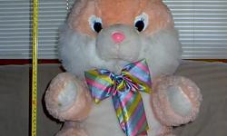 EASTER bunny plush big, mix orange & white COLOR, plush bunny, SOFT, 29? height, clean and nice FOR YOUR children, $20. CONTACT () - (EAST SAN JOSE)  We have 4 girl Jeans with different sizes and brands for