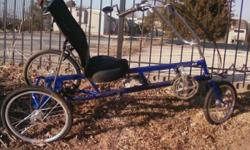 This is better than a bike it is fast and comfortable to ride and you can do alot of shopping it needs some general maintenance from sitting out. i have nowhere to store it so I need to sell it. If you order one from the easy racer website they are very