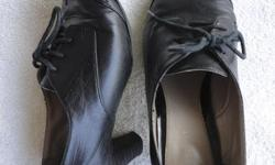 Originally $60 +/- Womens leather laced oxfords. Barely worn. No tears or scratches. Size 7.5 Will negotiate.