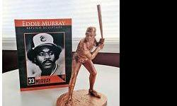 Brand new never opened Eddie Murraysculpture from unvailing of Eddie Murray statue at Camden Yards. The box shows some light water damage as it rained like cats and dogs the night of the ceremony. There is no real damage but the marks do show.