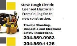 Steve Haugh Electrical Licensed Electrician since 1992 Call me Steve Haugh for all your electrical needs, no worries - Trouble shooting is one of my finer attributes. I don't recommend a lot of extras one don't need for self gain. I take pride in my
