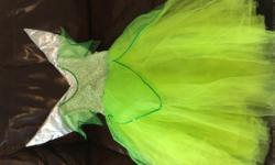 Size 8 - 10 Elsa gown with shoulder wrap - boutique Tinkerbell (or fairy) gown ... perfect for her dress up closet