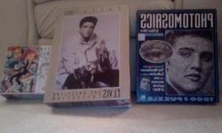 """Several Items 2007 Elvis Ornament """"Can't stop loving you"""" =$40.00 Elvis Pez collection =$12.00 Elvis Lunch Box =$12.00 Elvis top 40 hits collection quarters =$6.00 Elvid 2006 in a box calander collection =$4.00 Books Elvis Presley Day by Say by"""