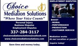 Are you experiencing an Employment issue at Work?  Today we have to work, most often all in the household has to work in some way whether it is a stay at home mom, wife or as a full or part time employee. No matter what the case..we are at work.