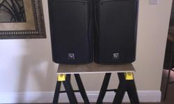 Excellent condition firm price. I have 4 of these speakers $150 each for sale and a behringer Pmp 6000 20 channel powered mixer with case for $500. All together 4 speakers plus mixer and case $1100. See my other adds. Key Features: ? Extremely
