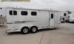 Ready to hit the trails with your equine friends? This is just the ticket for the cowboy on the go! A fully self contained rv that can accommodate four people and three horses! Super cold A/C will cool you down after a long day of riding the trails! A