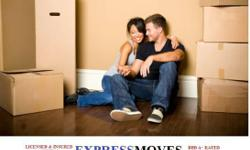 Moving out of a home, or apartment?Call Express Moves Movers! We have summertime specials going on. 2 men for $50 an hour with any truck. We have 3-4 men specials to give you more saving to get your move done faster. We are a