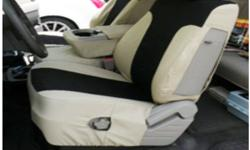 Custom Fit Two-Tone Khaki Seat Covers with Console Fit F150 Always PROTECT Your NEW Car Seats or Cover Up Your Worn Looking Seats With Custom Fit Seat Covers ! Call Danny @ 954-961-7774 for assistance or to place an Order ! Dashcovers Plus Depot 5450 S