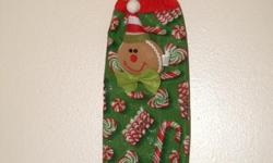 Hand Crafted Plastic bag holders (original designs)to decorate your kitchen with seasonal designs and store your empty groceries plastic bags in an elegant way. Also for the Christmas season we do have Original Designs Hand Crafted Fabric Christmas