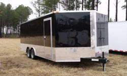 Stock #: custom order Serial #:order Description the standard features are: v-nose front w/ solid wall construction, 4000 lb. Heavy duty rear ramp door w/ ramp extension flap & spring assist, 32? side door w/ rv flush lock w/ keys, l.e.d. tail