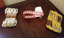 I have 3 fashion bracelets for sale.  $5 each or all 3 for $10  New.  I also have over 100 pair of fashion earrings.