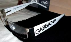 Brand New Dolce & Gabbana Unisex Glasses $250.00 D&G embedded in the chest area & sleeve logo Two different colors are available: Black & White Brand: D & G (Dolce & Gabbana) Made: Italy Color: White or Black (your choice) Price: $250.00 (will entertain