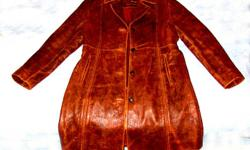 Brand New Ladies (Women's) Fashion Coat, Size (L) Large Material: Genuine Leather Color: Settle Price: $275.00 (or best offer) Condition: Brand New US Size: (L) Large Length: 3/4 Lining: Silk Buyer pays shipping & handling All sales are final, no returns,