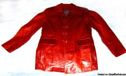 Brand New Ladies (Women's) Fashion Genuine Leather Jacket Size (M) Material: Genuine Leather Color: Burgundy Price: $275.00 (or best offer) Condition: Brand New US Size: (M) Medium Length: Half body Lining: Silk Buyer pays shipping & handling All sales