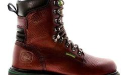 Brand New Men's 8-Inch Waterproof Lace-Up John Deere Fashion Genuine Leather Boots US Size 9 1/2 Item Specifications: Men's John Deere boots offer quality that stands up to tough agricultural and industrial jobs. With a range of specialized features,