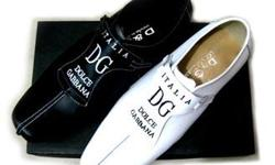 Brand New Unisex Dolce & Gabbana Designer Leather Shoes US Size 9 1/2 Material: Genuine Leather Color: White Price: $75.00 (or best offer) Condition: Brand New US Size: 9 1/2 Width: (M) Medium Buyer pays shipping & handling All sales are final, no