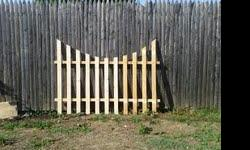 Hi there I have lots of scallop fence sections. selling $20. a 4x8 section. Made out of kd wood call Angela