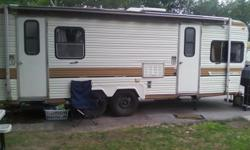 I have a 1983 fire ball bumper pull camper for sale it has one bed room in the back table turns into a bed to sleeps 4 people has to closets plenty of storege moving cant take it has to go ASAP plz call