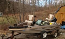 Fish & Skie Boat newly reworked last year has 70 Horse power motor new seats new steering cables new proper trim motor new switched life jackets and lots of other things . asking $ 3500.00 you can call 304 6428310 or text me