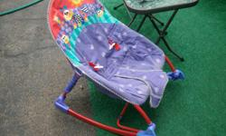 FISHER PRICE a name you can trust! Every new mother should have / needs one of these!! A gentle rocker, stationary chair, carrier..........ALL IN ONE!! Gentle rocker ( uses one 9 volt battery) for gently rocking baby to sleep and for her/his relaxation