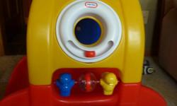 FISHER PRICE MULTI-PURPOSE PLAY SYSTEM $25.00 LITTLE TYKES CRAWL-THROUGH TOY $15.00 LITTLE TYKES BLUE RIDE-ON HORSE $10.00