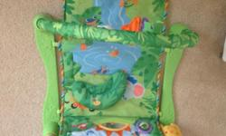 Hi There, its a baby gym by fisherprice. carefully handled. neat , clean and washed. if any body intrested let me know. Thankyou.
