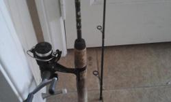 """Two piece wally marshall 6'6"""" lite action rod new with shimano TX plus reel great combo $40 firm selling 10am - 5pm no shipping cash only."""