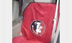 CAR SEAT TOWEL - Protect Your New Seats Or Just Cover Up Your Exisiting Now you can take the spirit of your Florida State University Seminoles with you wherever you go! Live hard! Play hard! And don't mess up your car seats! Protects seats