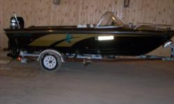 boat has 1977 merc outboard refurbished 2 yeas ago, new carpet, seats,upolstery,paint. 4speaker stereo with 369 watt kicker amp and 2 kicker subs has ez loader trlr runs very well and looks good to