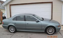 2001 BMW 530I FOR SALE,122K, 4DR SEDAN, 2WD, AUTOMATIC, GRAY LEATHER INTERIOR, BLUE-GRAY EXTERIOR, POWER SEATS, SUNROOF, FRONT SEAT HEATERS, CD PLAYER, 6 CYLINDERS. UNIQUE COLOR, WELL KEPT CAR, CLEAN, RECENT MAINTENANCE PREFORMED. ONLY SERIOUS OFFERS