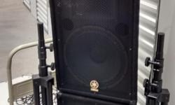 Yamaha EMX 88S System. 800watt Max Amp + Speakers and Stands.Plus wireless Receiver and Mic.