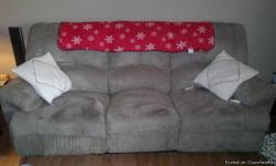 FOR SALE,, ONE SOFA AND CHAIR, IN GOOD CONDITION,, LIGHT GREEN IN COLOR,, CONTACT OWNER FOR MORE INFO.