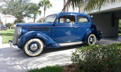FORD 1936 TUDOR, Professionally built car, Corvette Engine, 500 miles since rebuild, looks stock, spare on trunk, cruise or show, mohair interior, 12-volt Halogen lights, new Coker tires, $29,000. 321-953-2699, FL.