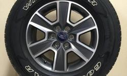 """FORD F-150 18"""" WHEELS WRAPPED IN 275/65/R18 GOODYEAR WRANGLER TIRES!!!  ALSO IN STOCK NEW AND USED WHEEL AND TIRE PULL OFFS FOR CHEVY TRUCKS,CAMARO,CORVETTE,FORD TRUCKS,MUSTANG,DODGE RAM,CHARGER,CHALLENGER,JEEP WRANGLER,RUBICON,SAHARA,TOYOTA,NISSAN"""