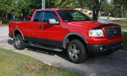 2007 Ford F150 FX4 SuperCab (Red) 5.4L Engine 4 Wheel Drive Automatic Transmission Line-X Bed Liner Power Sliding Rear Window Black Leather Interior Power Seat 6-Disc Changer Running Boards 125,000 Miles (Highway Miles) This truck has been well maintained