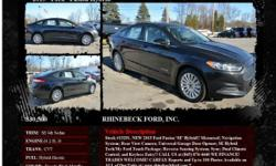 Ford Fusion Hybrid SE 4dr Sedan CVT Tuxedo Black Metallic 1 I4 2.0L I42015 Sedan RHINEBECK FORD, INC. 845-876-4440