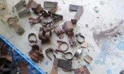 ONE FORD MUFFLER TRUCK ,VAN 1960S, 70S 80S , ONE OLDS 1932-33,37-38 NEW, ONE OTHER PLUS ABOUT 40 CLAMPS AND HANGERS , GREAT FOR SWAP MEETS , ALL NEW
