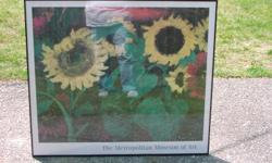 Framed Metropolitan Museum of Art print in fantastic condition. Large sunflowers with Metropolitan Museum of Art in bottom right corner.