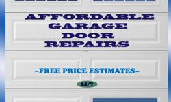 WE OFFER: Garage Door Installations 24/7 Emergency Calls Free Estimates Accessories Lube N' Tune Maintenance Broken Garage Door Openers Broken Garage Door Springs Broken Rollers Broken Cables Door off Track Panel Repairs/Replacements Remote Control Issues