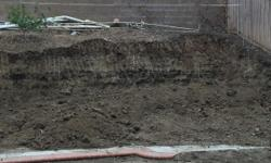 Swimming pool remove and need soil to backfill? We just did the same thing. But we still have a lot of clean soil in my yard for anyone wants soil to backfill pool, a hill or any construction purpose. We dogged it out already and easy to load