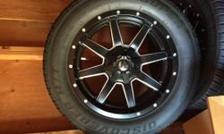 This rims and tires are almost brand new, used only in the summer. They were on a 2007 Toyota Tundra. Rims brand is fuel with tires cooper discoverer h/t Text for more info and pictures 206four3four seven2six4 20X9 5X150/5X139 +20 Fuel Maverick BLK