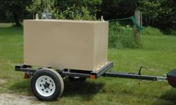 200 Gallon fuel trailer. Single axle. Like new condition. Has 12 volt pump & filter - not shown.