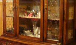 Broyhill dining set : Table with six chairs , Table pads and 2 leafs + buffet table +hutch and china cabinet all very good conditon can sell seperate call -- cash only leave message if no ans no emails please due to spam