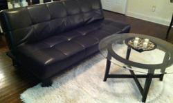 Special priced New Futon Sofa sleeper: I only have one at this price New Dark Brown modern leather Futon sofa sleeper for $195.00 Price is firm. Futons are new in the factory boxes left over from todays interior designs order. Futon look just like the